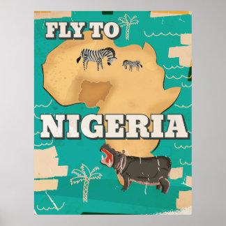 Poster del viaje del vintage de Nigeria