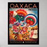 Poster del viaje del vintage de Oaxaca México Póster