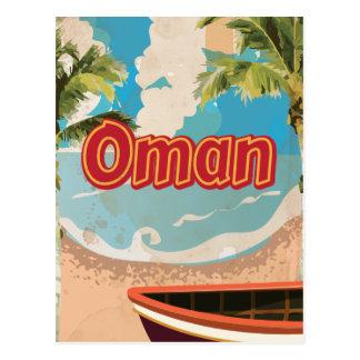 Poster del viaje del vintage de Omán Tarjetas Postales