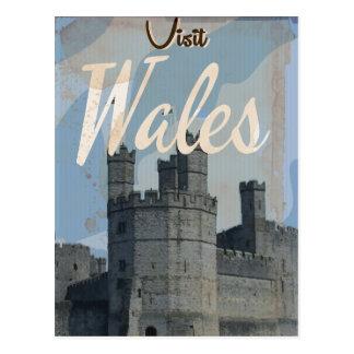 Poster del viaje del vintage de País de Gales Postal