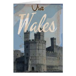 Poster del viaje del vintage de País de Gales Tarjeta De Felicitación