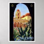 """Poster del viaje del vintage de """"Palermo"""""""