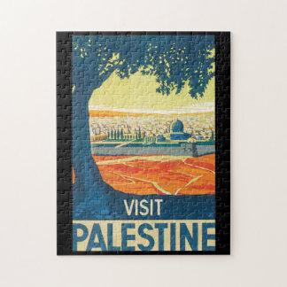 Poster del viaje del vintage de Palestina de la Puzzle