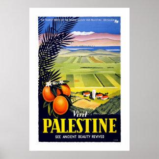 """Poster del viaje del vintage de Palestina de la v"