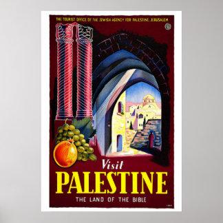 """Poster del viaje del vintage de Palestina de la v Póster"