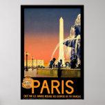 """Poster del viaje del vintage de """"París"""""""