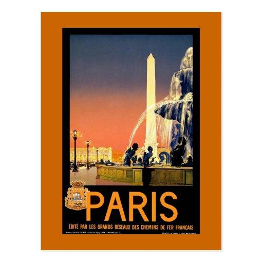"""Poster del viaje del vintage de """"París"""" Tarjetas Postales"""