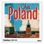 Poster del viaje del vintage de Polonia