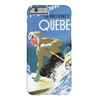 Poster del viaje del vintage de Quebec Canadá Funda De iPhone 6 Barely There