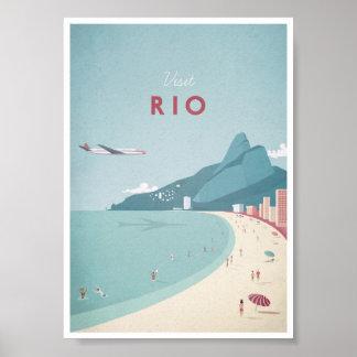 Poster del viaje del vintage de Río