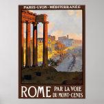 Poster del viaje del vintage de Roma