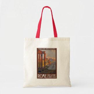 "Poster del viaje del vintage de ""Roma"" Bolsa Tela Barata"