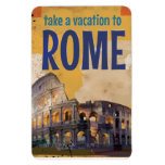 Poster del viaje del vintage de Roma Iman Rectangular