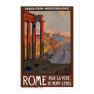 """Poster del viaje del vintage de """"Roma"""" Postal"""