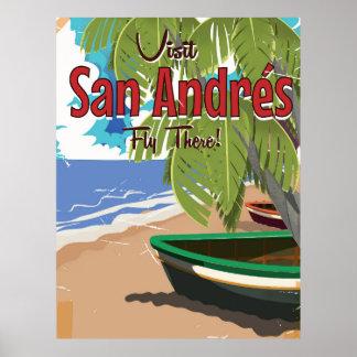 Poster del viaje del vintage de San Andrés