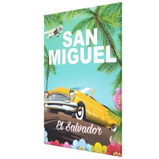 Poster del viaje del vintage de San Miguel El Impresion En Lona