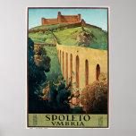 Poster del viaje del vintage de Spoleto Vmbria