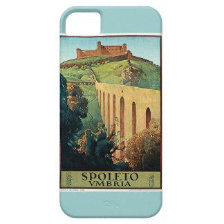 Poster del viaje del vintage de Spoleto Vmbria iPhone 5 Cárcasa