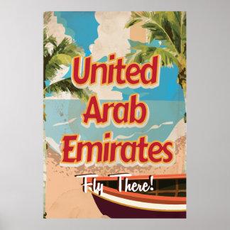 Poster del viaje del vintage de United Arab Póster