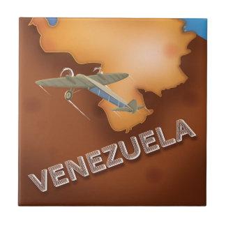 poster del viaje del vintage de Venezuela Azulejo Cuadrado Pequeño