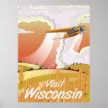Poster del viaje del vintage de Wisconsin