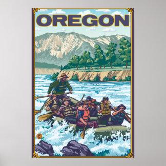 Poster del viaje del vintage del agua Que transpor