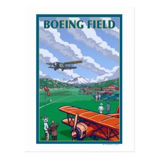 Poster del viaje del vintage del campo de Boeing Postales