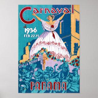 Poster del viaje del vintage del carnaval de póster