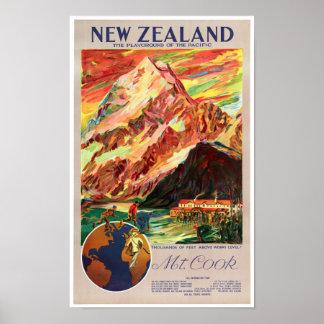 Poster del viaje del vintage del cocinero de Nueva Póster