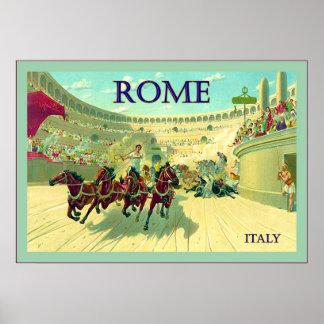 Poster del viaje del vintage del ~ de Italia del ~