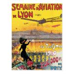Poster del viaje del vintage del de Lyon de la avi Postales