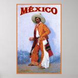 Poster del viaje del vintage del ~ de México
