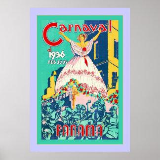 Poster del viaje del vintage del ~ de Panamá del ~