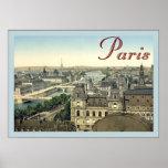 Poster del viaje del vintage del ~ de París
