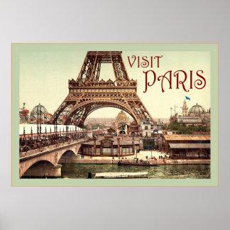 Poster del viaje del vintage del ~ de París de la