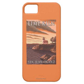 Poster del viaje del vintage del faro del horno de iPhone 5 funda
