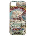 Poster del viaje del vintage del Invierno-Deporte  iPhone 5 Funda