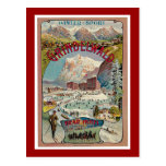 Poster del viaje del vintage del Invierno-Deporte  Postales