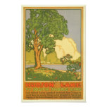 Poster del viaje del vintage del lago hudson