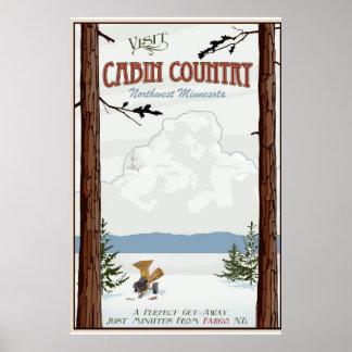 Poster del viaje del vintage del país de la cabina
