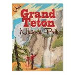 Poster del viaje del vintage del parque nacional postal