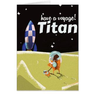 Poster del viaje del vintage del titán tarjeta de felicitación