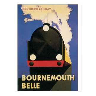 Poster del viaje del vintage del tren de la postal