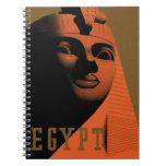 Poster del viaje del vintage, Egipto, África con l Libro De Apuntes