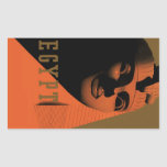 Poster del viaje del vintage, Egipto, África con l Rectangular Pegatina