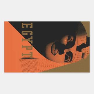 Poster del viaje del vintage, Egipto, África con Pegatina Rectangular