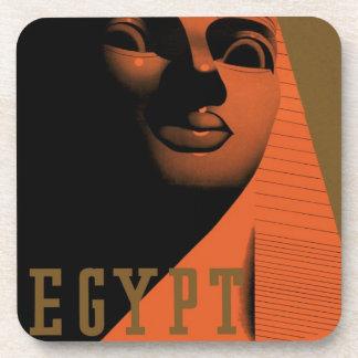 Poster del viaje del vintage, Egipto, África con Posavasos De Bebida