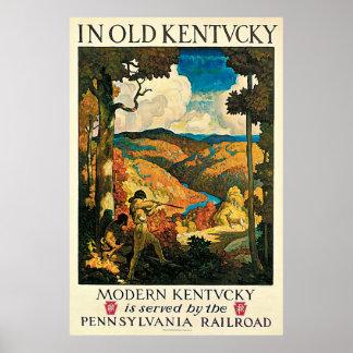 Poster del viaje del vintage, en Kentucky viejo, Póster