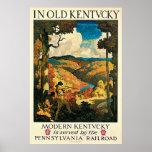 Poster del viaje del vintage, en Kentucky viejo, N
