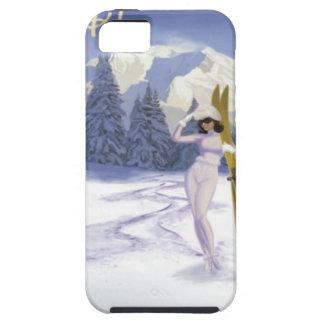 Poster del viaje del vintage, esquí Italia Funda Para iPhone 5 Tough